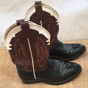 Tony Lama Kids Cowboy Boots Leather 13.5 D style 0606 Boys Girls cowboy boots